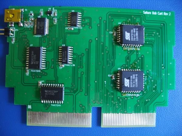 Sega Saturn USB flash cartridge
